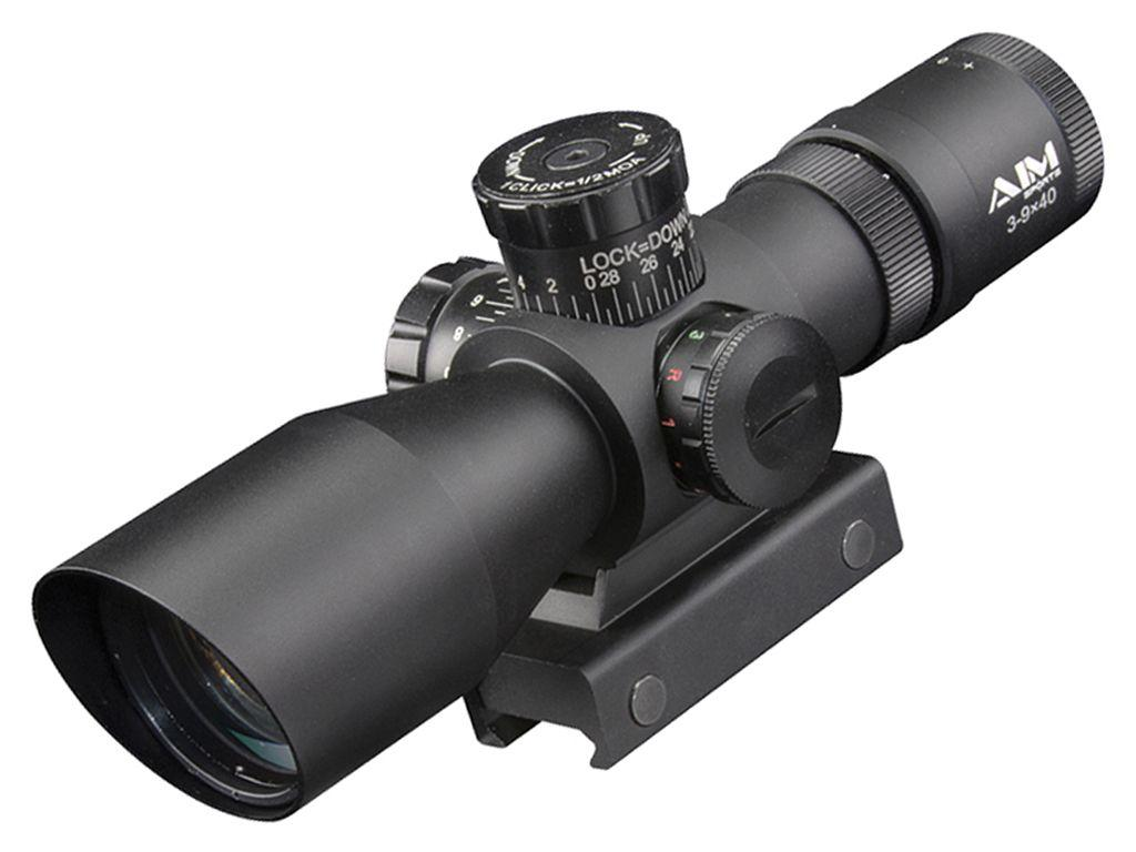 3-9x40 Tri-Illuminated Reticle Scope