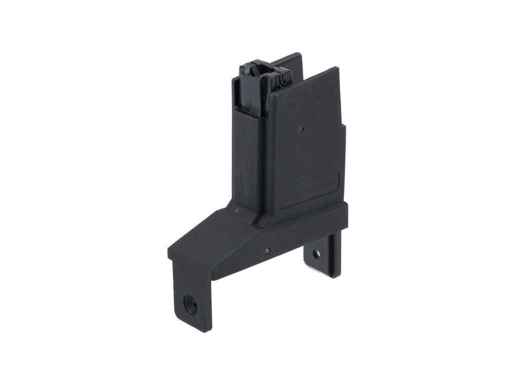 Adapter Custom Angel Mag for Fire-/Thunderstorm Airsoft AEG Drum Mags Version: Scorpion EVO/Black