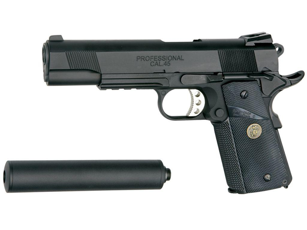 ASG US Marine MEU Limited Black Airsoft Pistol