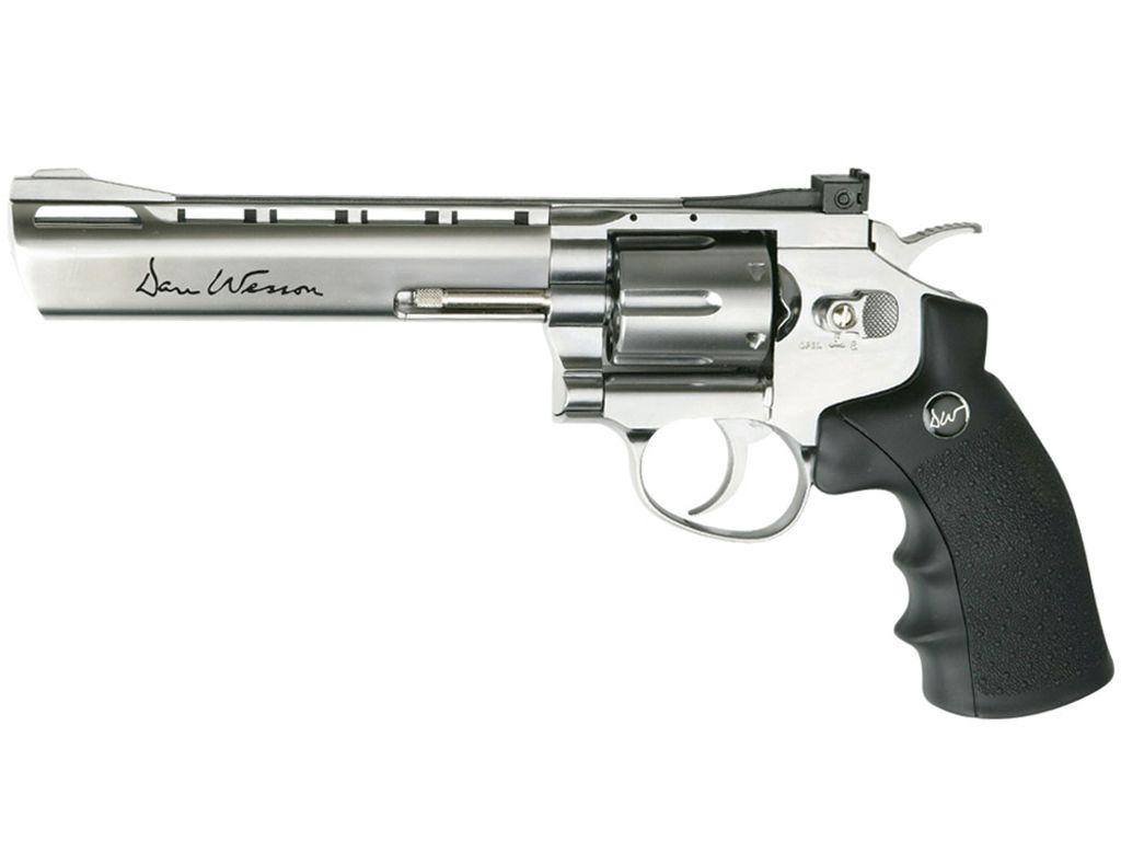 Dan Wesson NBB 6 Inch Silver US Airsoft Revolver