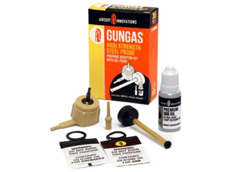 Gun Gas Steel probe Adaptor Kit with Oil Pump
