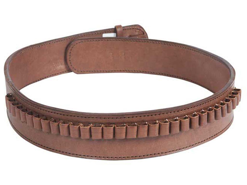 Western Justice Leather .38 Cal. Loops Gun Belt - 2.5 Inch Wide
