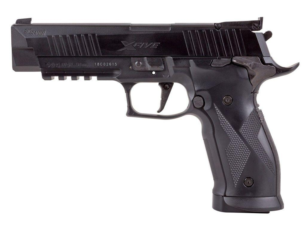 Sig Sauer X-Five ASP CO2 Blowback Steel BB/Pellet Pistol