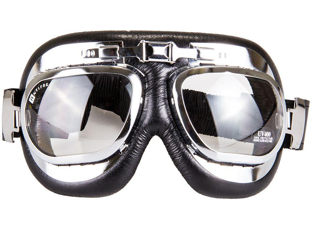 Aviator Goggles WW2 Style Chrome