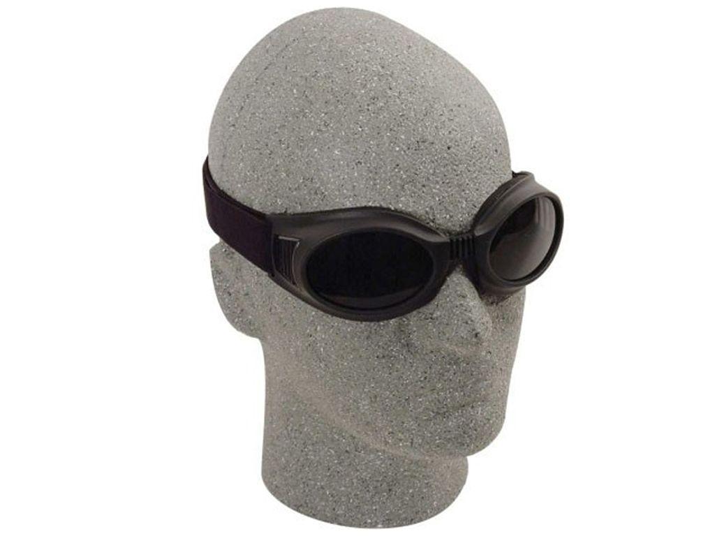 Flex Frame Black Goggles With Smoke Lenses