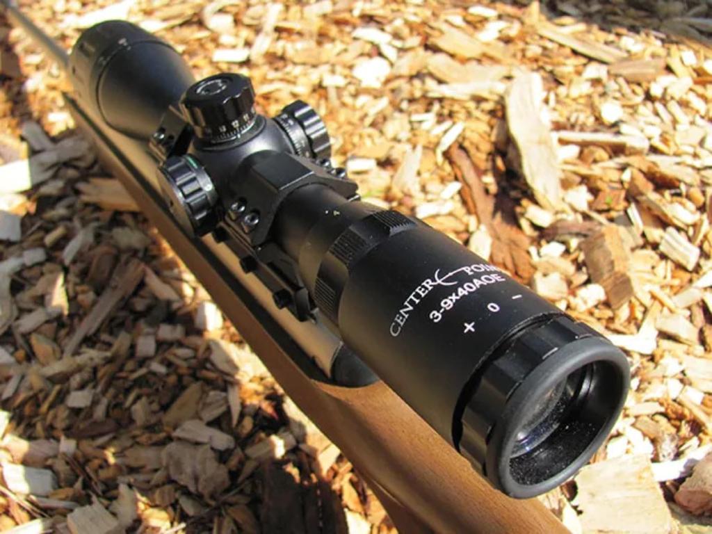 Crosman Classic Wood Spring Powered Break Barrel Pellet Rifle W/ 3-9x40 AO Scope