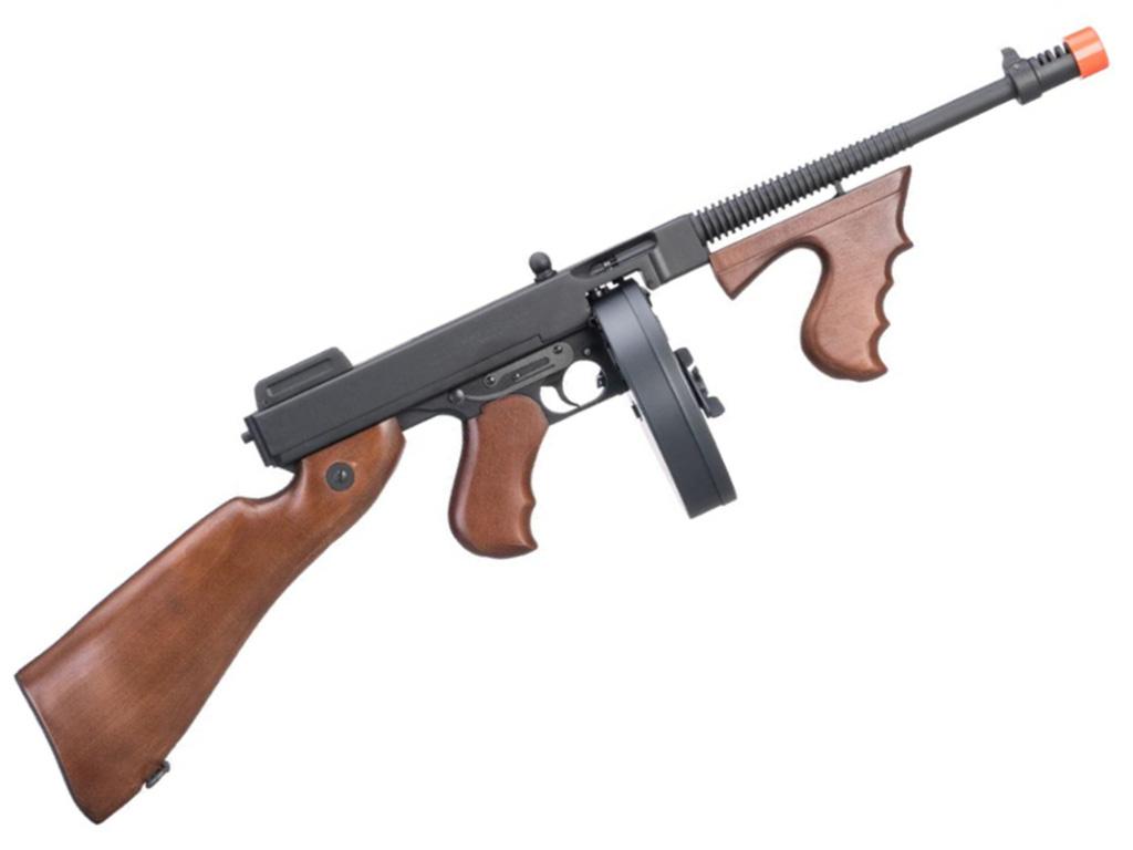 Cybergun Thompson Chicago Typewriter AEG Airsoft Rifle with Drum Magazine