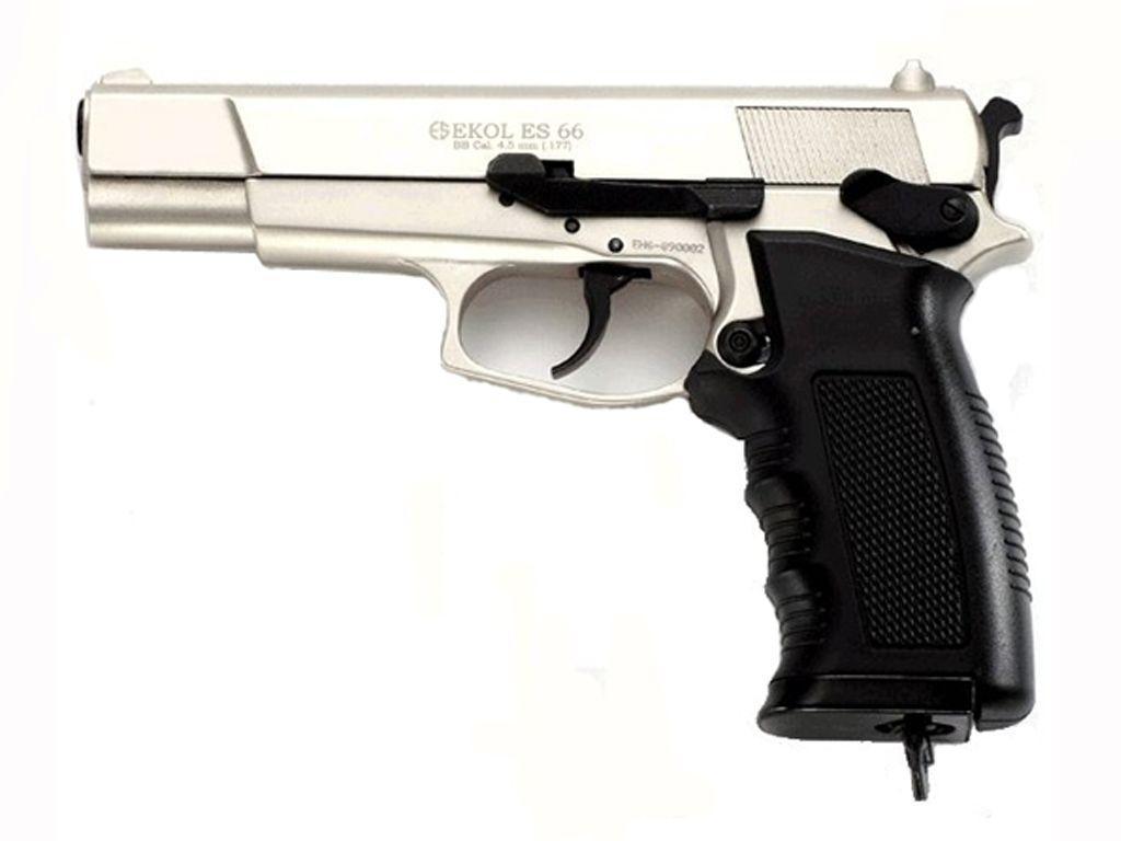 Ekol Metal BB Shiny Chrome 4.5Mm ES66 Pistol