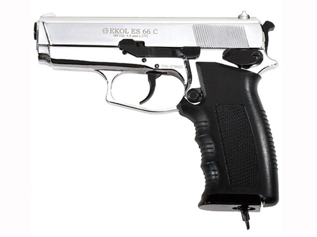 Ekol Compact Chrome Finish ES 66C CO2 BB Pistol