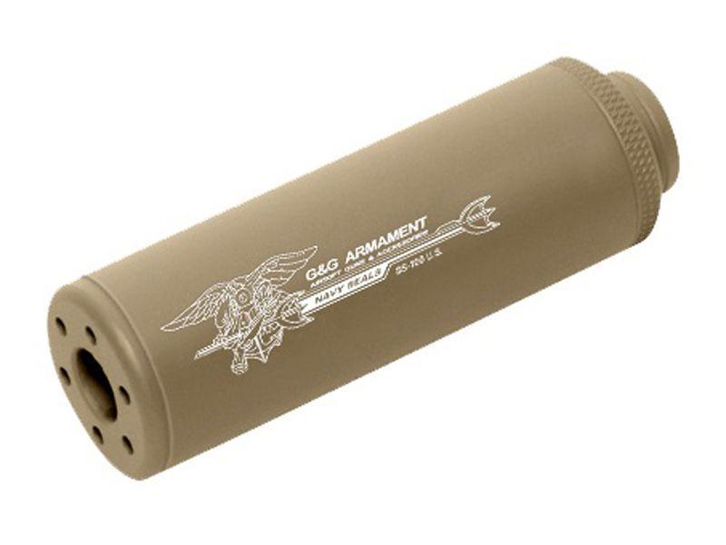 G&G SS-100 CW Desert Tan Sound Suppressor - 14mm