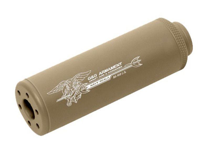 G&G SS-100 CCW Desert Tan Sound Suppressor - 14mm