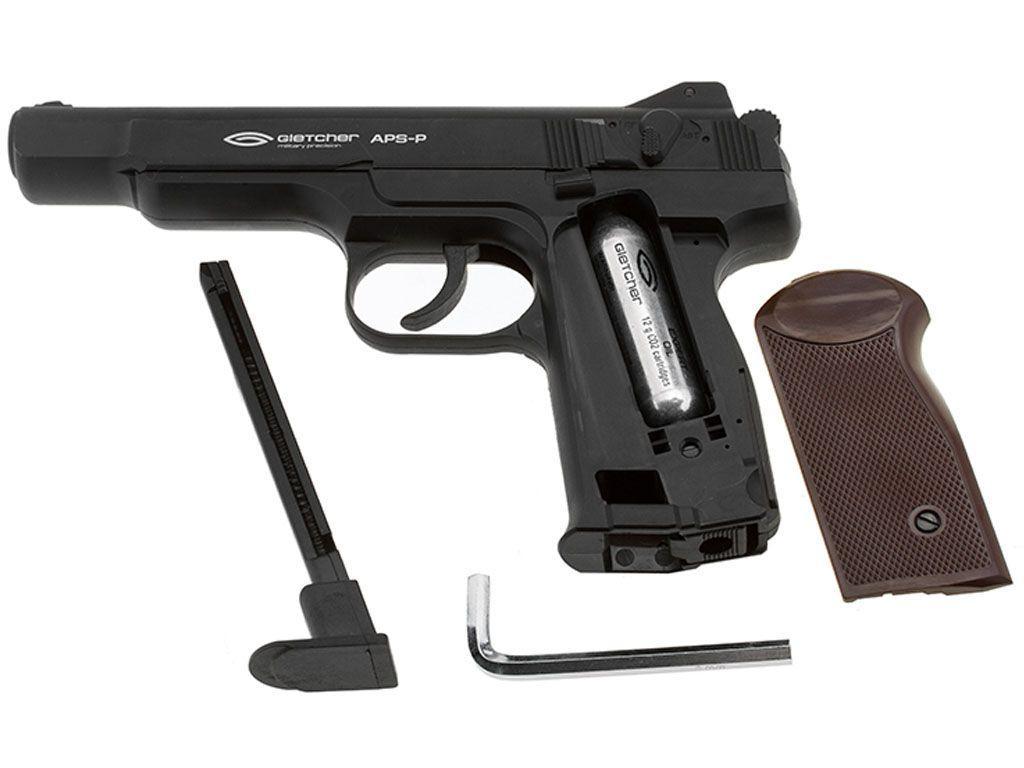 Buy Gletcher Steel BB APS-P .177 Caliber Pistol |ReplicaAirguns.ca