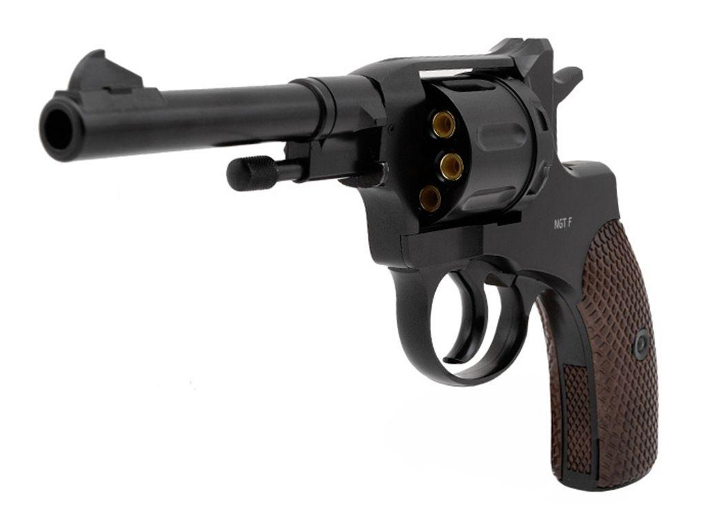 Gletcher NGT CO2  Steel BB Revolver-Black