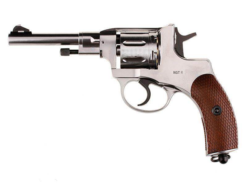 Gletcher Steel Pellet Revolver CO2 4.5 Mm Pellet Pistol Silver
