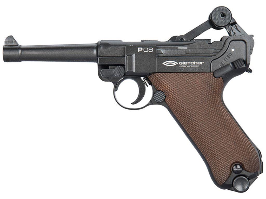 Buy gletcher p08 steel bb 177 caliber co2 pistol replicaairguns ca