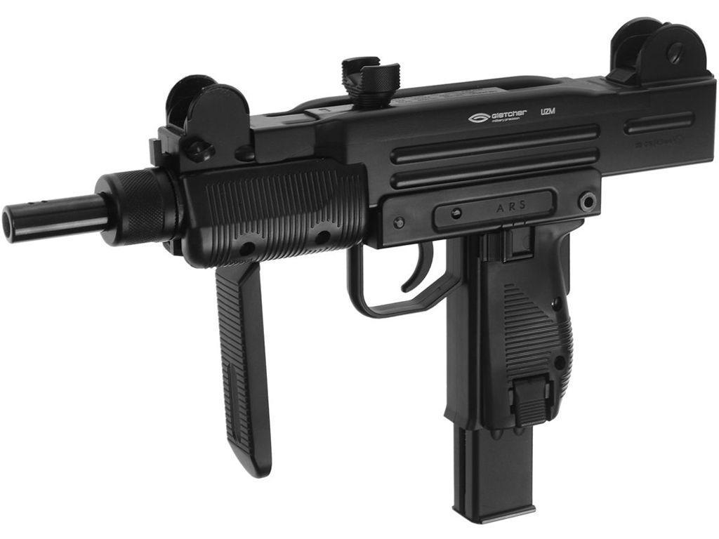 Gletcher 4.5 Mm Steel Blowback UZM Submachine Gun