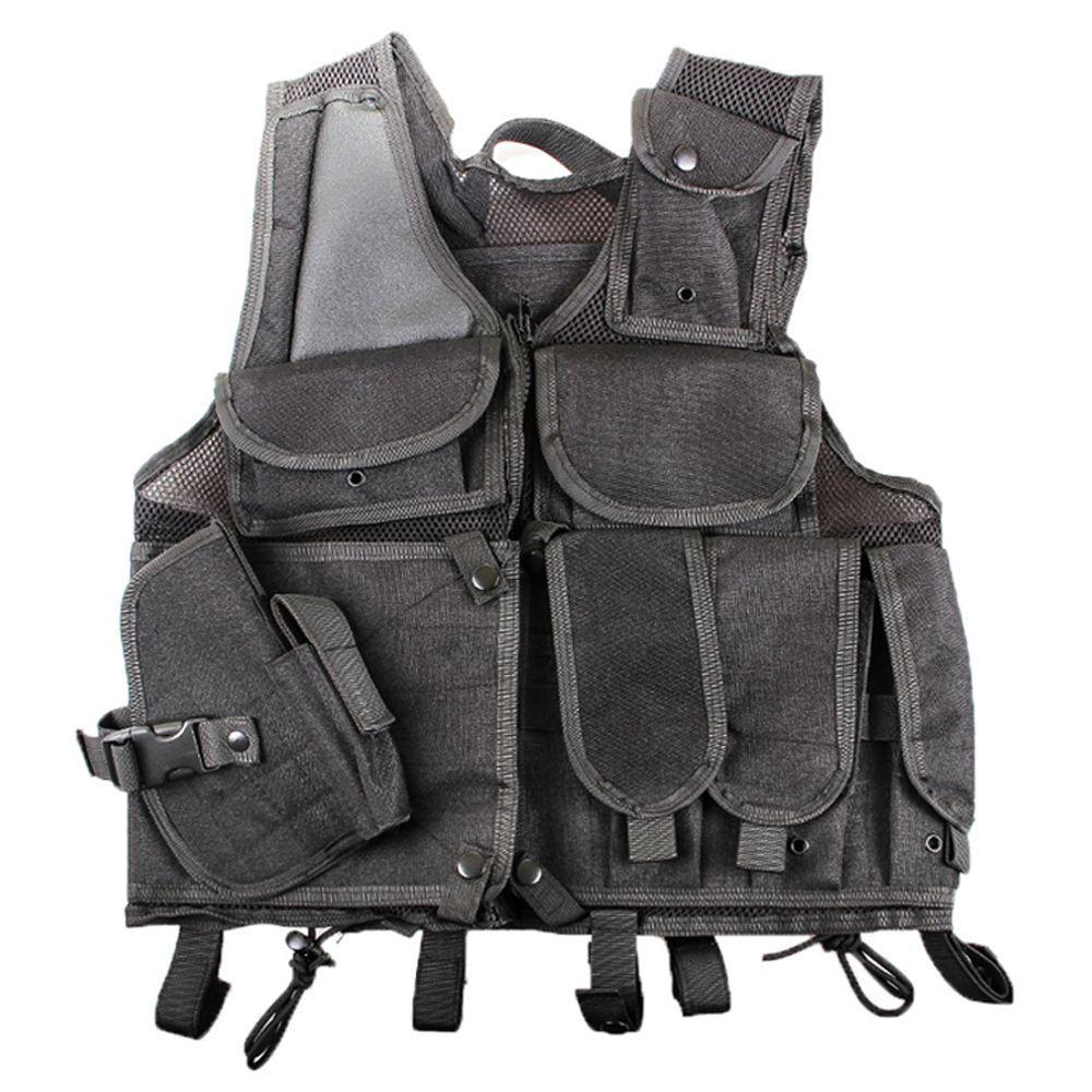 Military Combat Molle Black Vest