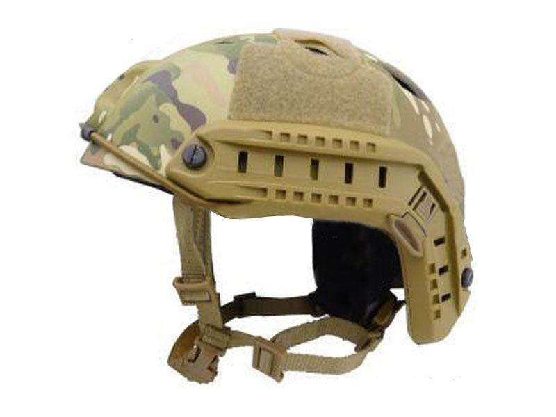 Airsoft Military Jump Fast Base Bj CP Helmet - Multicam