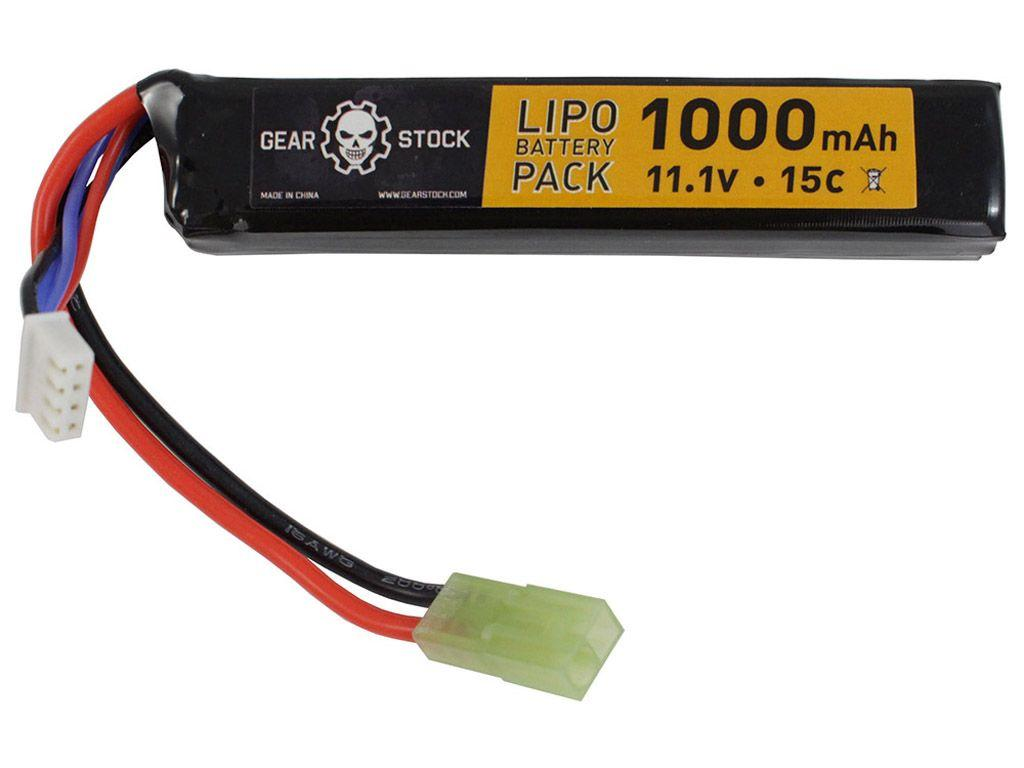 11.1V 1000mAh 15C LiPo AEG Stick Battery