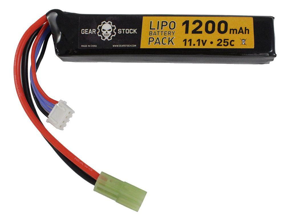11.1V 1200mAh 25C LiPo AEG Stick Battery