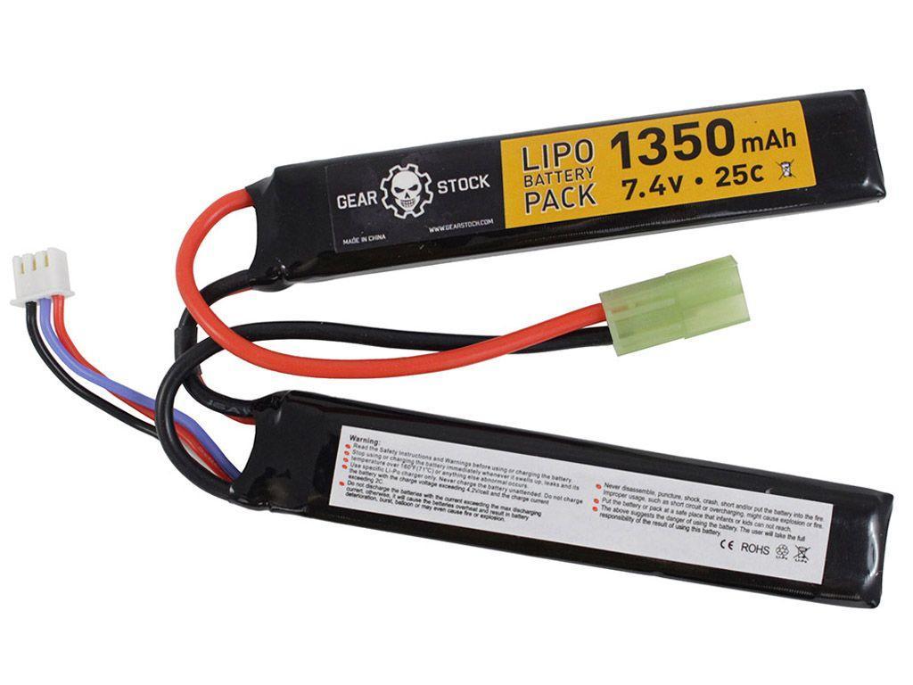 7.4V 1350mAh 25C LiPo AEG Nunchuck Battery