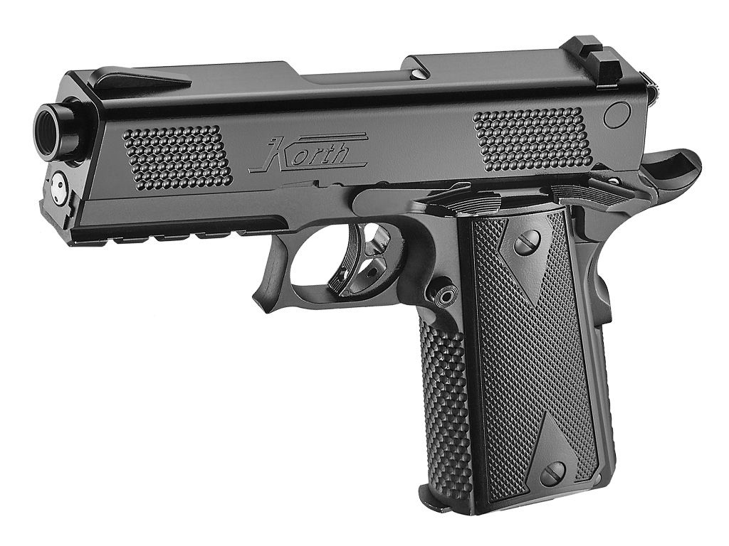 Korth PRS GBB Airsoft Pistol 6mm with Extended Barrel