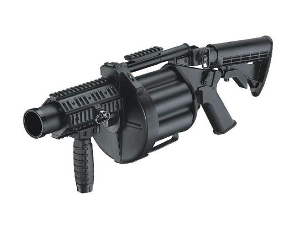 Multiple Grenade Launcher - Retractable Stock