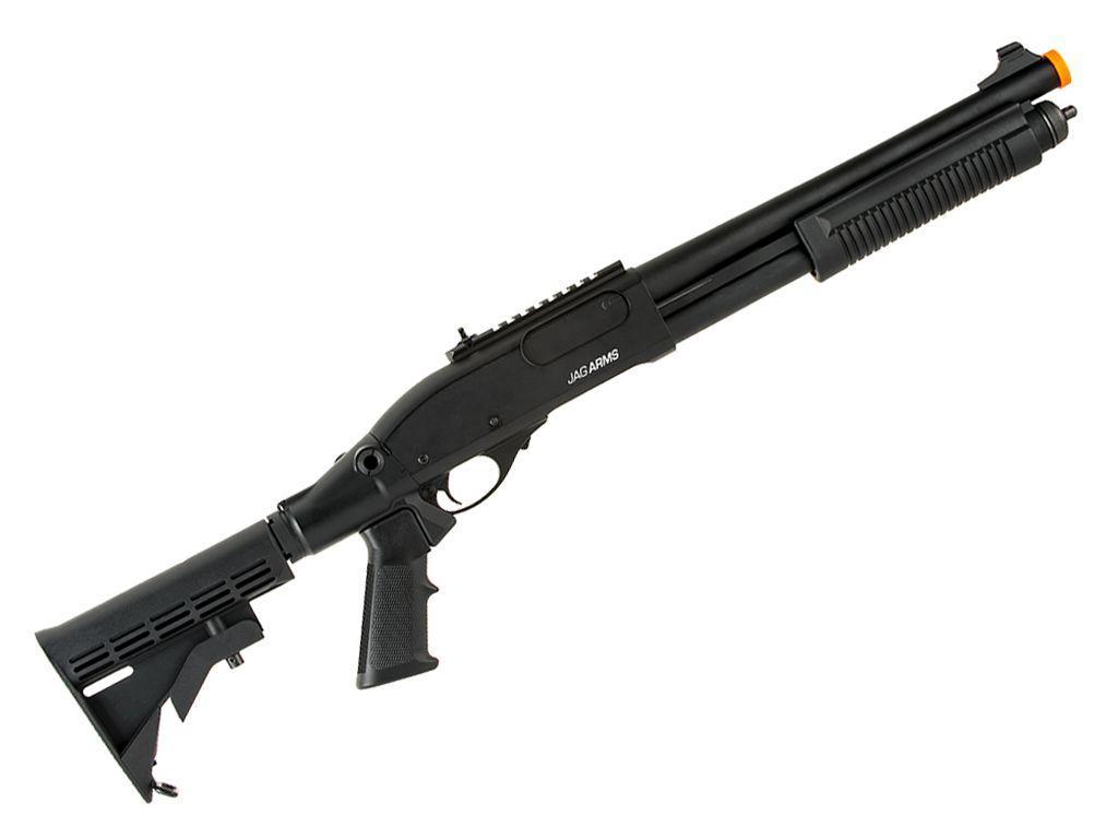 JAG Arms Scattergun TS Green Gas Airsoft Shotgun w/o Side Saddle