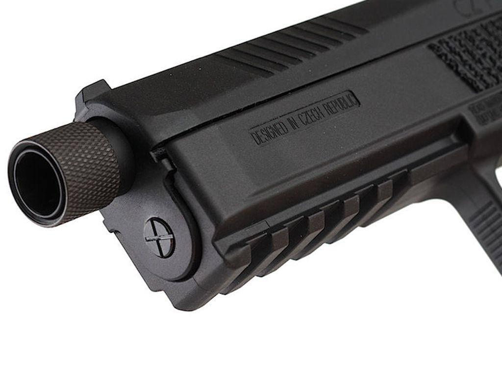 KJW CZ P-09 Duty Airsoft Pistol w/ CCW Thread Barrel Cap