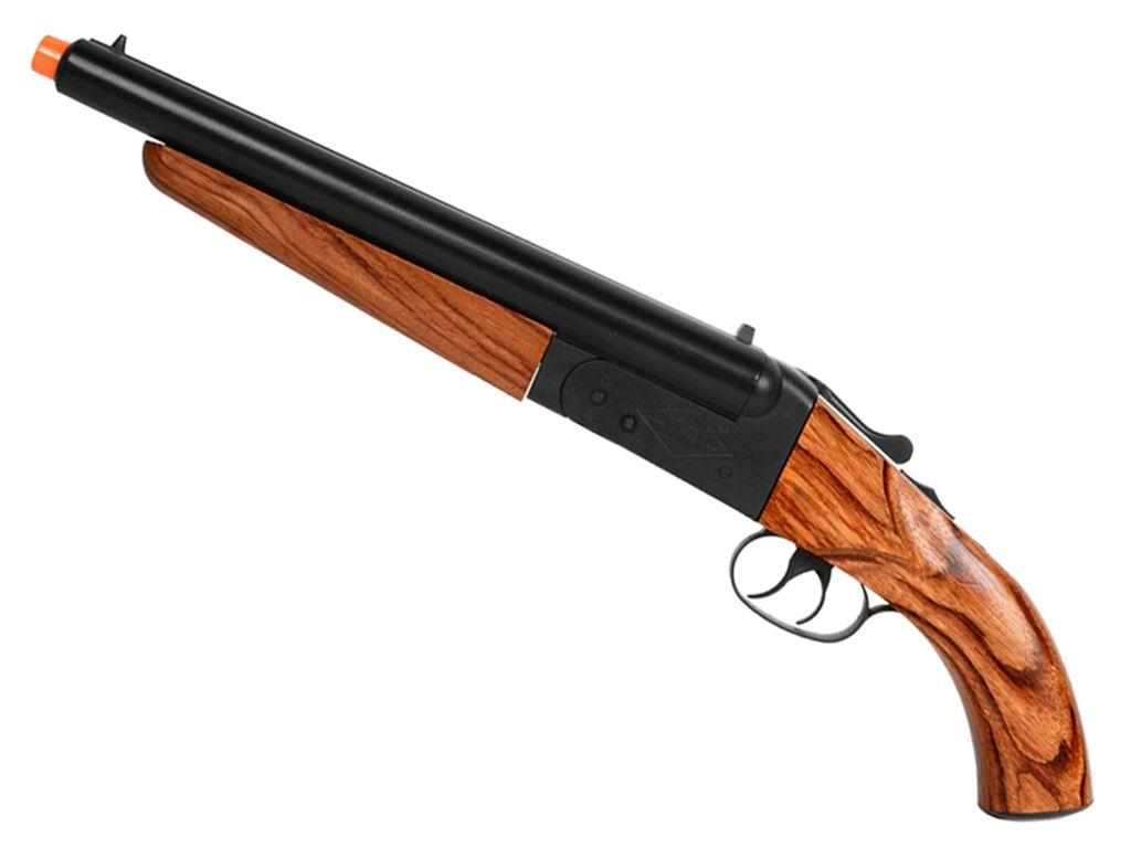 KJW Mad Max Wooden Airsoft Double Barrel Shotgun
