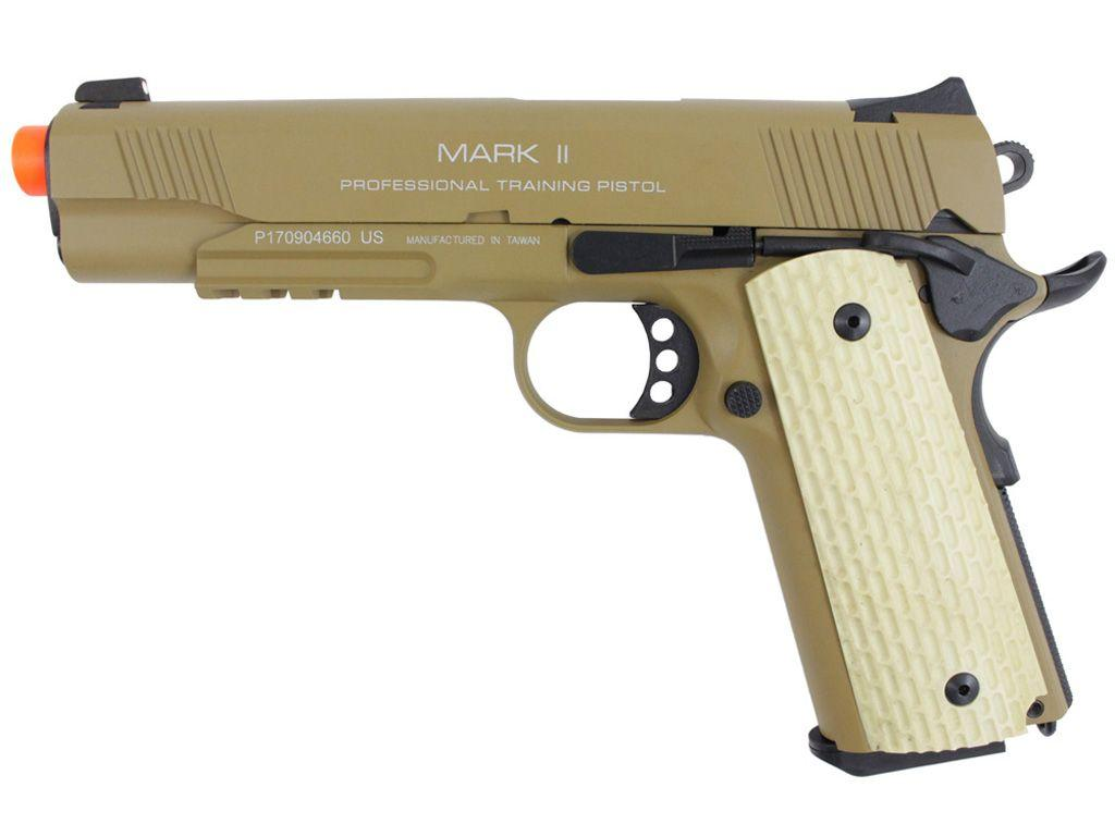 KWA 1911 MK II PTP GBB 6mm BB Airsoft Pistol - Dark Earth