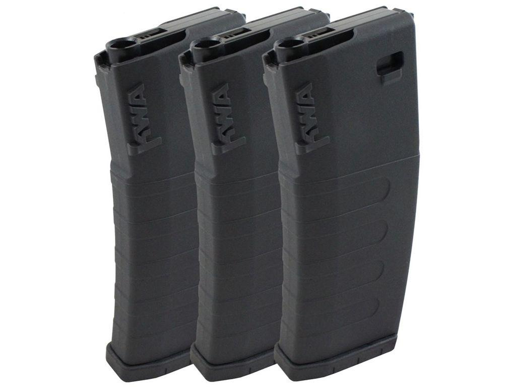 KWA K400 AEG High-Cap Airsoft Magazine (3 pcs) - Black