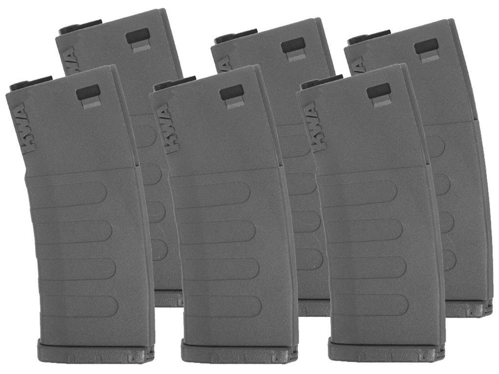 KWA AEG K120 Mid-Cap 6pc Airsoft Magazines