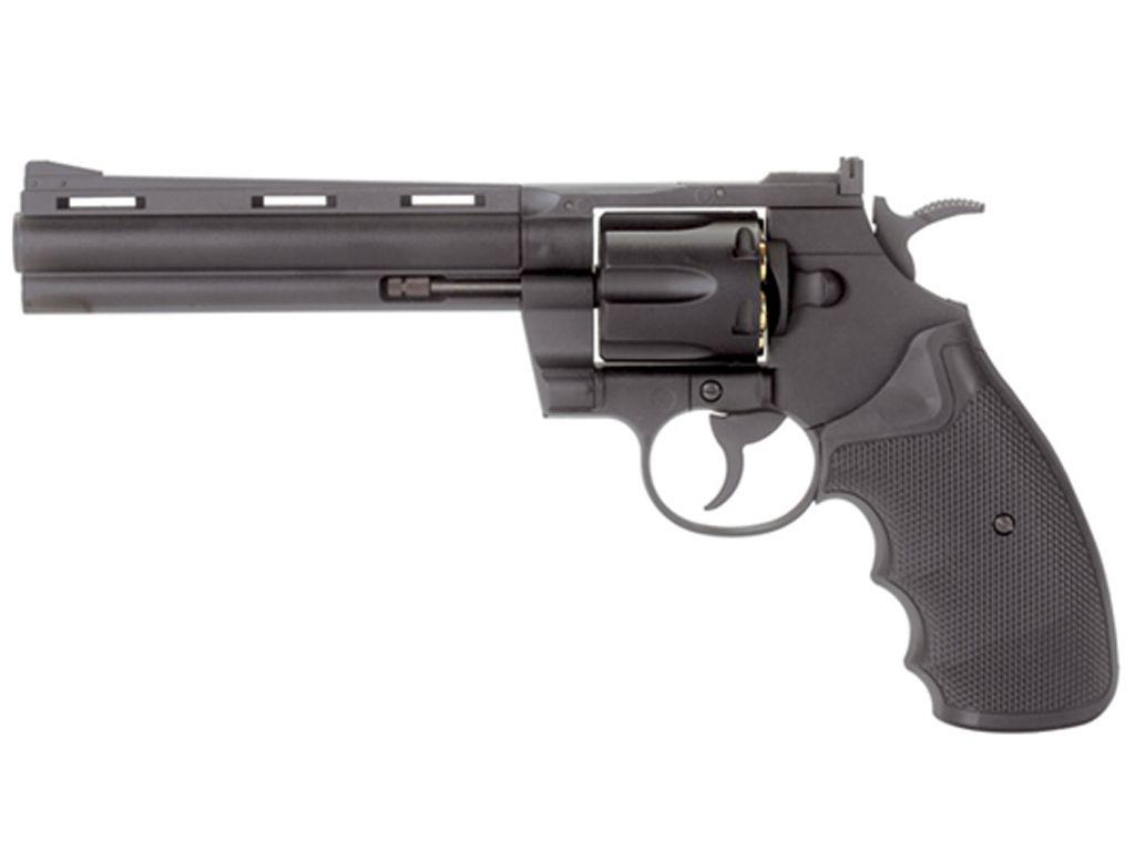 KWC 6mm Black 6 Inch Barrel Revolver