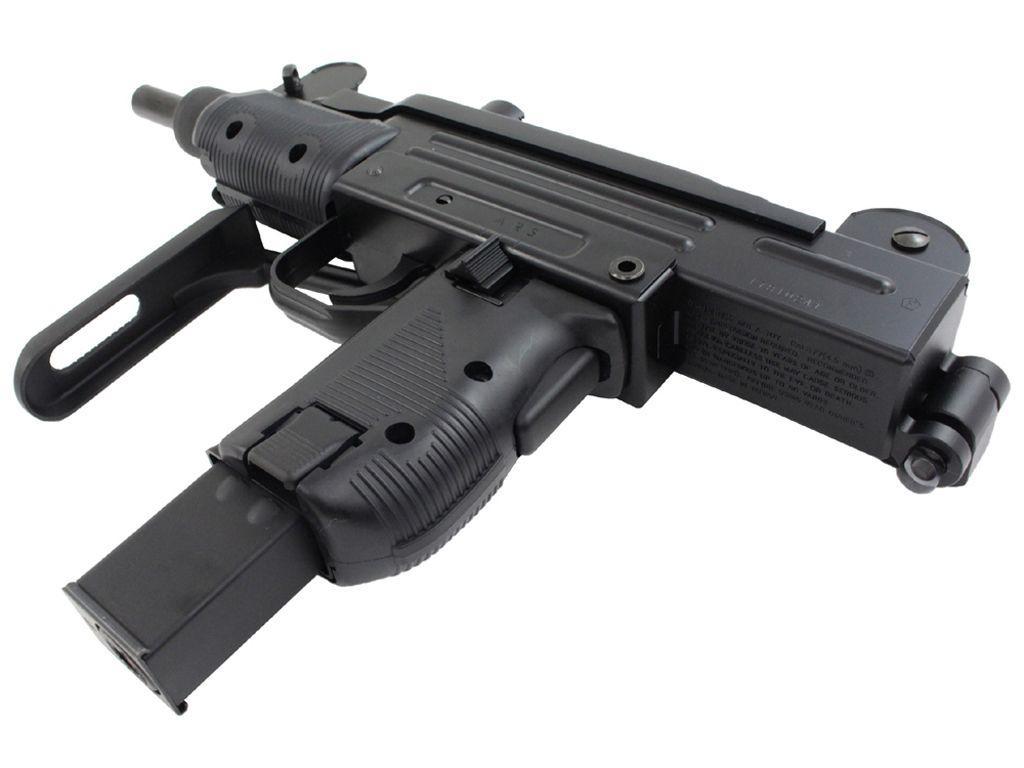 Kwc Mini Uzi Blowback Airsoft Machine Gun Replicaairgunsca