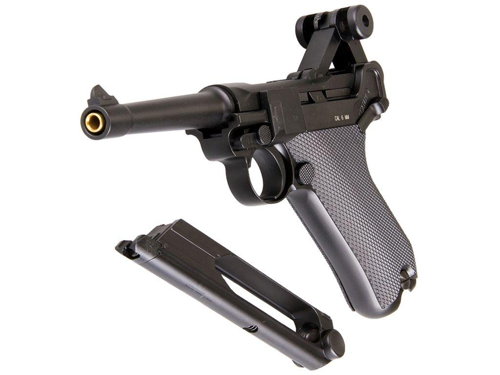KWC Luger P08 Full Metal 6mm Airsoft Pistol