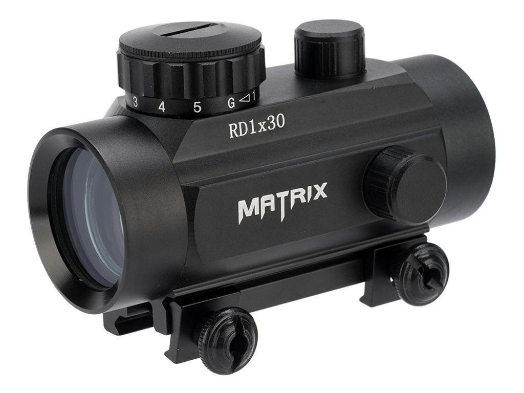 Matrix 1x30 Illuminated Red/Green Dot Scope with QD Base