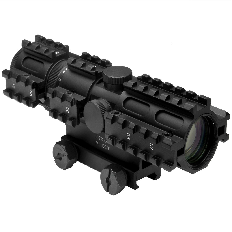 Ncstar Tri-Rail Series 2-7X32 Mil Dot Compact Rifle Scope