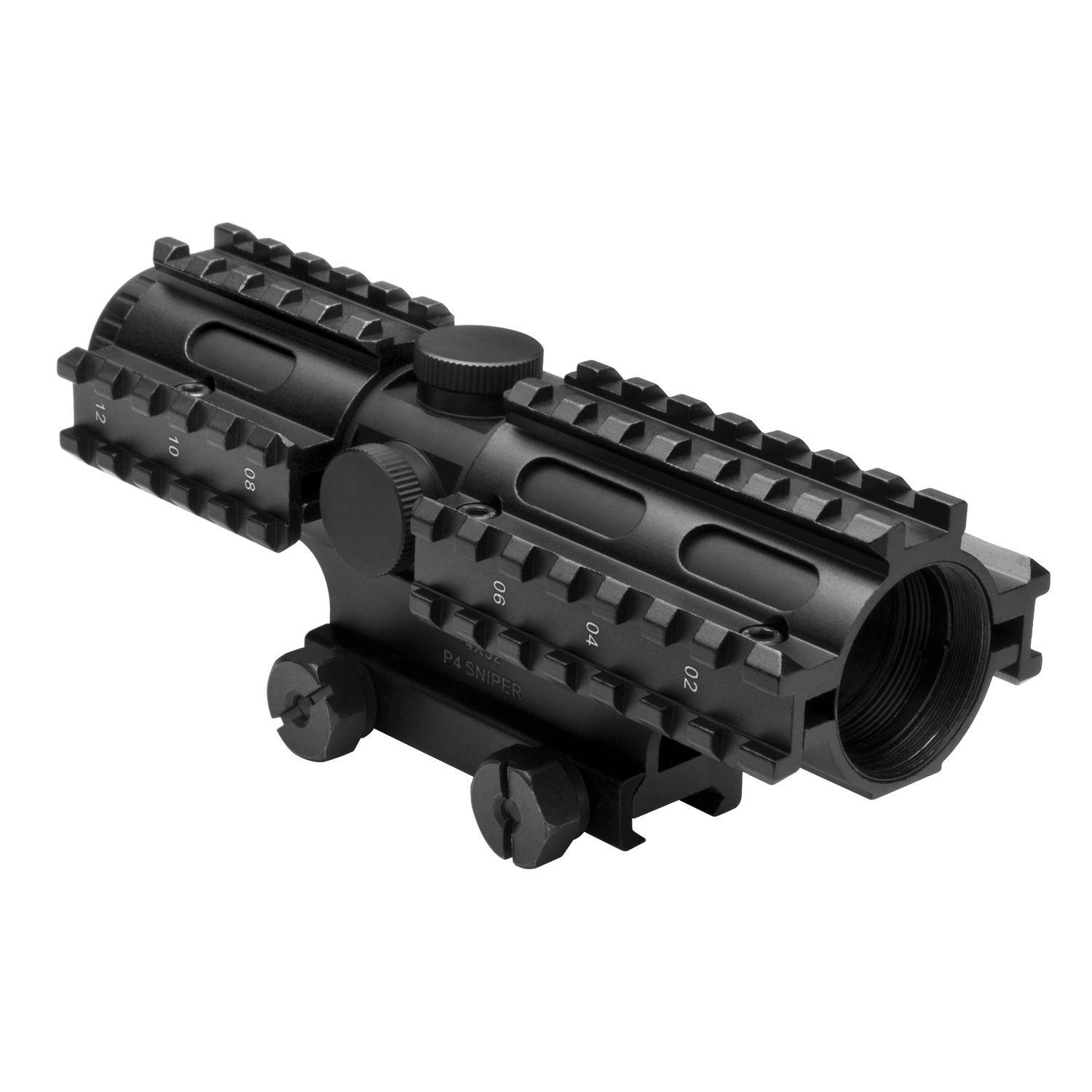 Ncstar Tri-Rail Series Compact P4 Sniper Rifle Scope
