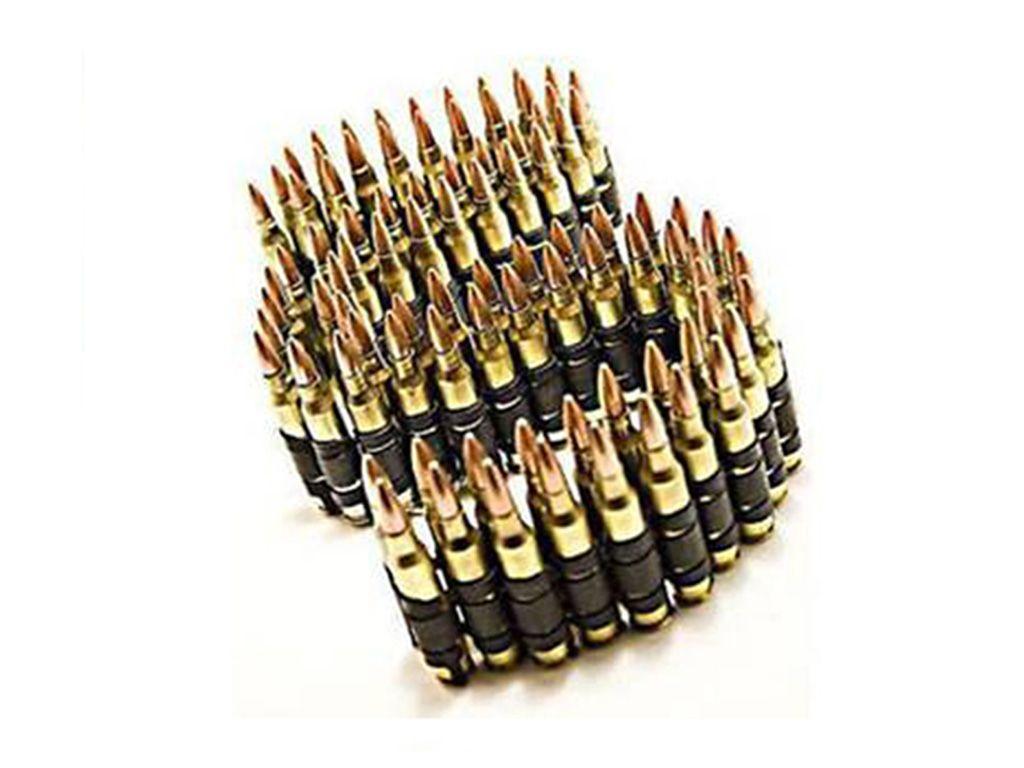 .223 Brass With Black Links Bullet Belt