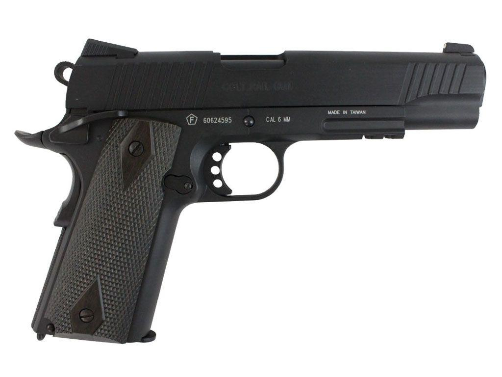 Cybergun Colt 1911 Rail Gun CO2 Blowback Airsoft Pistol