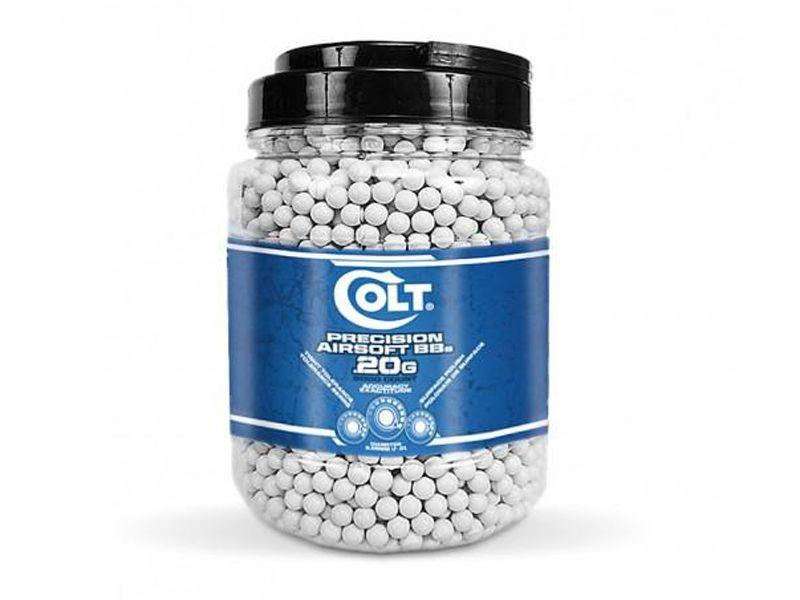 Colt .20g 5000ct White Airsoft BBs Jar