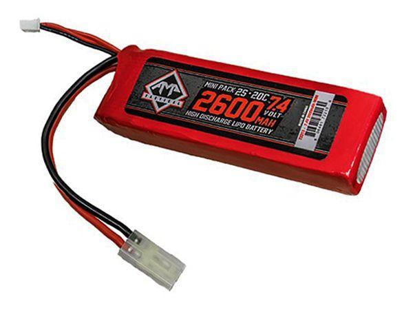 7.4V 2600mAh 20C LIPO AEG Mini Battery