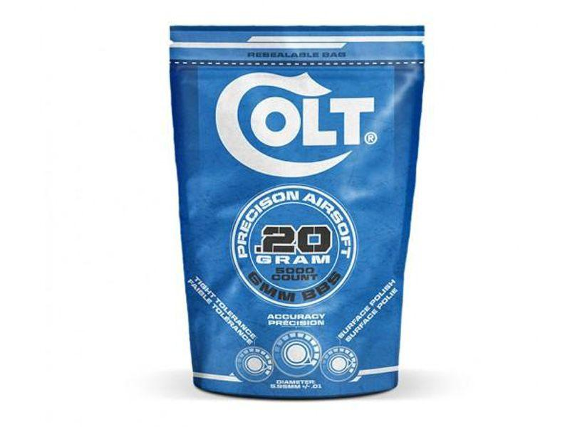 Colt .20g 5000ct White Airsoft BBs Bag