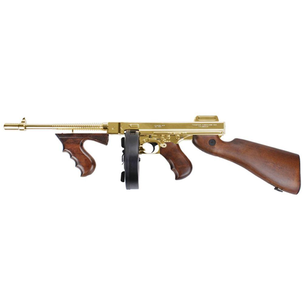 King Arms M1928 Gold Thompson HI Grade Airsoft Rifle