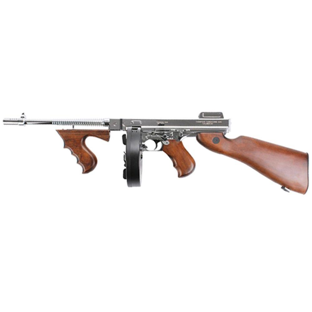 King Arms M1928 Silver Thompson HI Grade Airsoft Rifle