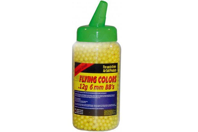 Flying Colors Yellow Airsoft BBs .12g - 2000ct