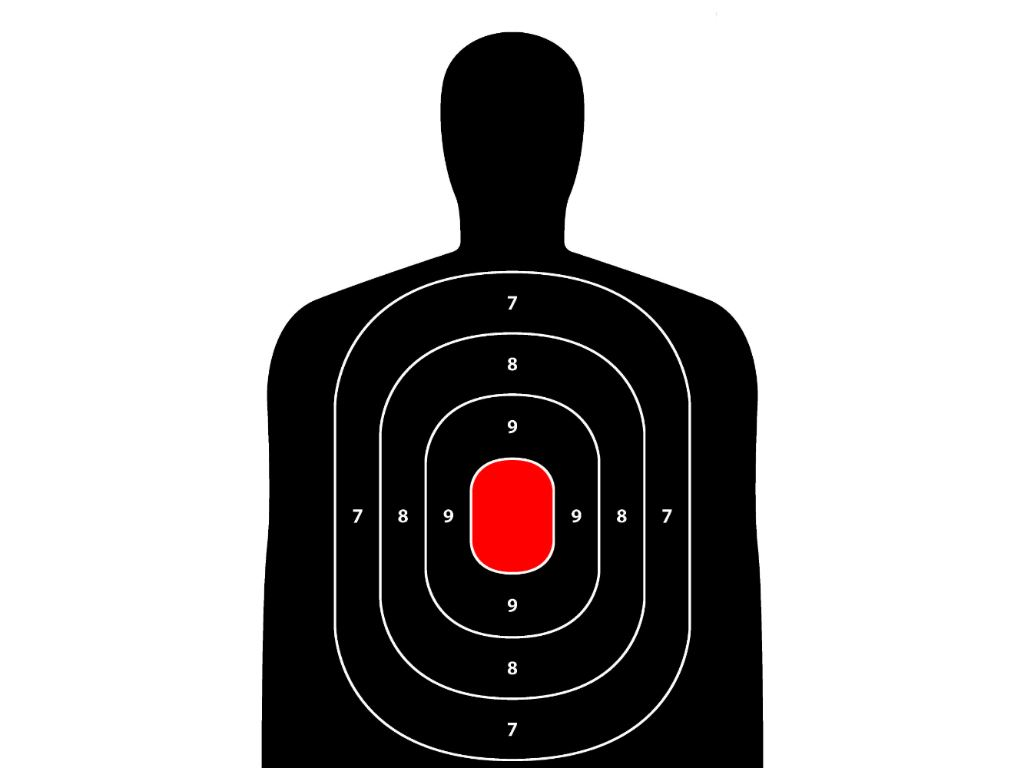 Silhouette Target 12x18 Inch 8 Pack