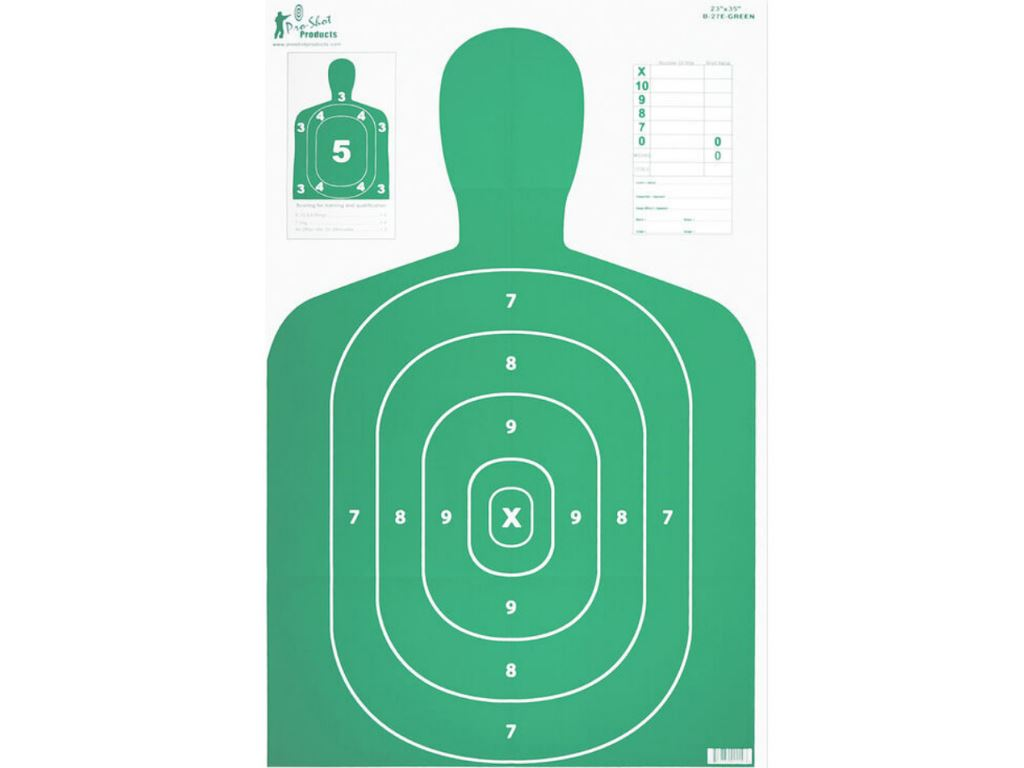 B27 Silhouette Target 23x35 Inch 5 Pack