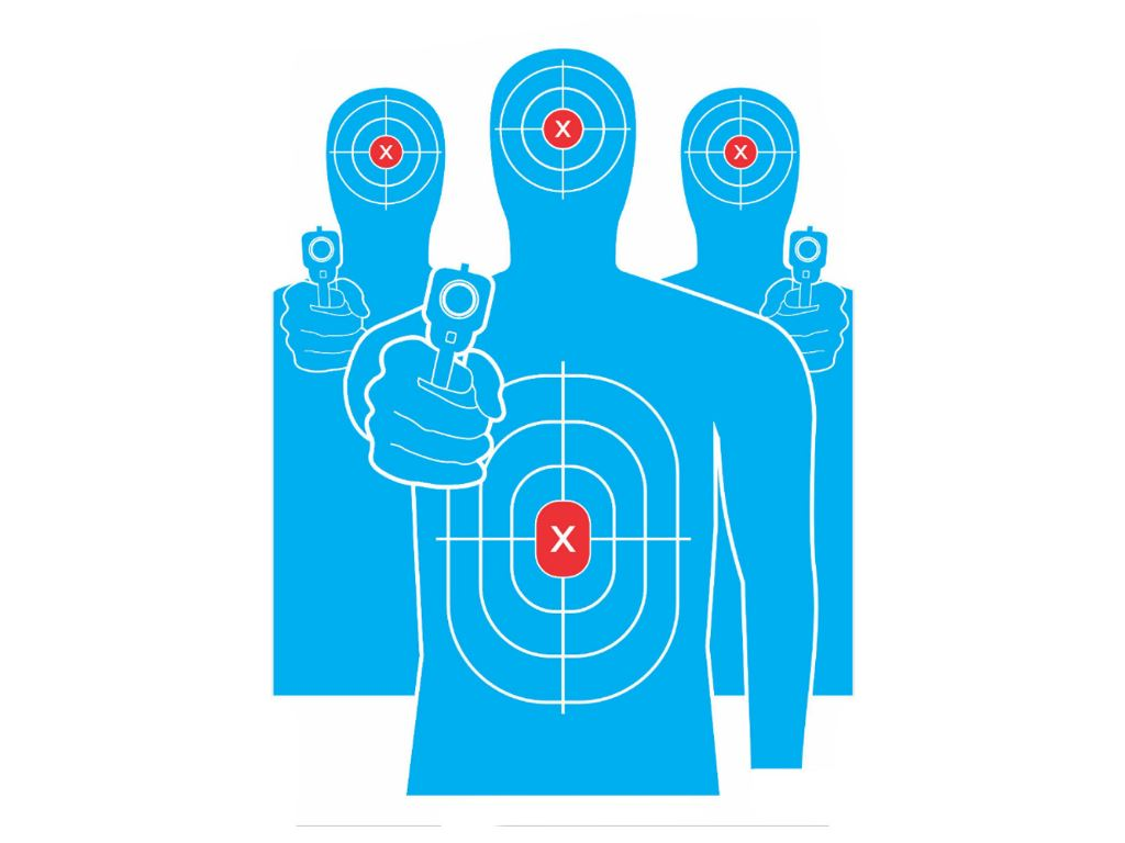 13x20 Tactical Target w/ Adhesive Backing